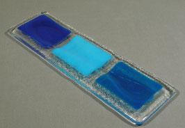 Repose-cuillère 3 carreaux tons bleus