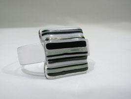 Bracelet rayé blanc noir A