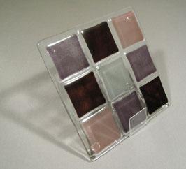 Dessous de plat 9 carrés parme - gris - pourpre foncé - pourpre clair