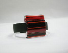 Bracelet rayé rouge noir