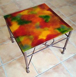 Table basse carrée automne