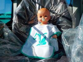 Kobelco Baby-Latz, weiss, 1–99 Jahre