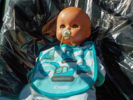 Kobelco Baby-Latz, gestreift, 0–1 Jahre