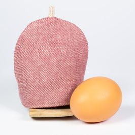 Eierwärmer aus Bioleinen und Loden
