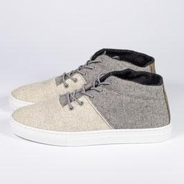 "SchurwollSneaker ""beige-grau"""
