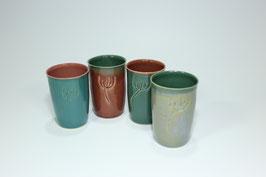 Keramik Zahnputzbecher hauchfein