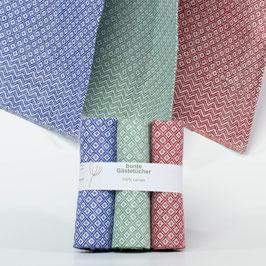 3er Set kleine Handtücher