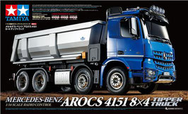 RC Tamiya Mercedes Arocs 4151 8x4 Tipper Truck + 56545