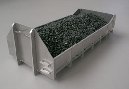 Flacher Abroll-Container Bausatz mit Erhöhung