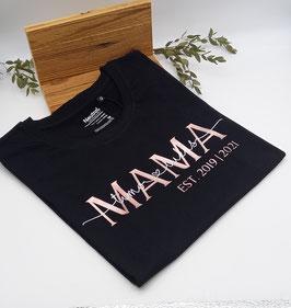 MAMA T-Shirt schwarz | roségold mit Namen | verschiedene Größen