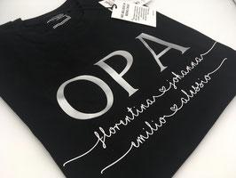 OPA T-Shirt schwarz | silber mit Namen unterhalb | verschiedene Größen