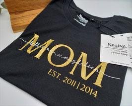 MOM T-Shirt schwarz | gold mit Namen | verschiedene Größen