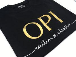 OPI T-Shirt schwarz | gold mit Namen unterhalb | verschiedene Größen