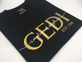 GEDI T-Shirt schwarz | gold mit Namen | verschiedene Größen