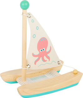 Holz Wasserspielzeug Katamaran Oktopus | small foot