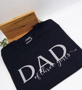 DAD of T-Shirt schwarz   grau   verschiedene Größen