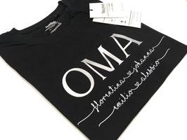 OMA T-Shirt schwarz | silber mit Namen unterhalb | verschiedene Größen