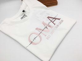 OMA T-Shirt weiß | roségold mit Namen | verschiedene Größen