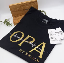 OPA T-Shirt schwarz   gold mit Namen   verschiedene Größen
