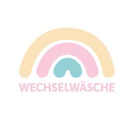 Wechselwäsche Plot mit Regenbogen
