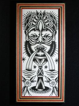 Gerahmtes Motiv: Indonesischer Wassergott