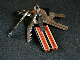 Schlüsselanhänger Lang - Schwarz/Rot