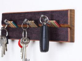 Schlüsselbrett aus Fassdaube (Eiche)