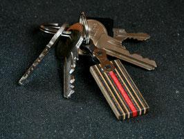 Schlüsselanhänger Lang - Grau/Rot