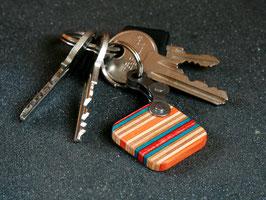 Schlüsselanhänger Quadrat - Orange/Türkis/Rot