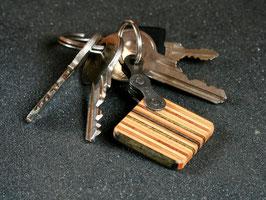 Schlüsselanhänger Quadrat - Grün/Braun