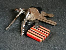 Schlüsselanhänger Quadrat - Rot/Schwarz