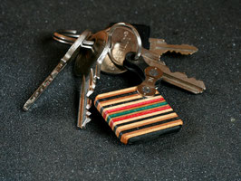 Schlüsselanhänger Quadrat - Schwarz/Rot/Grün