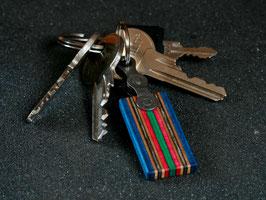 Schlüsselanhänger Lang - Blau/Rot/Grün