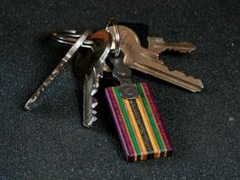 Schlüsselanhänger Lang - Lila/Gelb/Grün/Schwarz