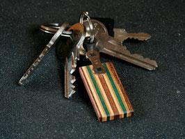 Schlüsselanhänger Lang - Braun/Grün