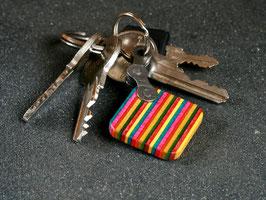 Schlüsselanhänger Quadrat - Gelb/Rot/Grün/Pink/Blau