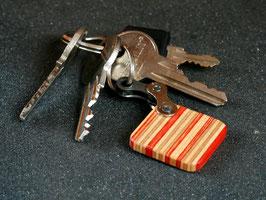 Schlüsselanhänger Quadrat - Orange