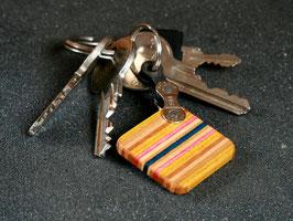 Schlüsselanhänger Quadrat - Gelb/Pink/Blau