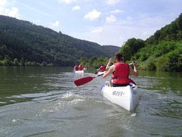Gutschein für eine Kanutour auf dem Neckar