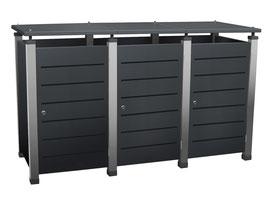Mülltonnenbox Pacco E Line 233170 für drei 240 Liter Mülltonnen