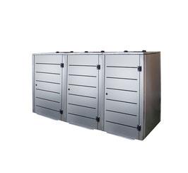 Mülltonnenbox Eleganza Line für drei 120 Liter Mülltonnen