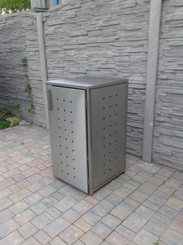 Mülltonnenbox Milbo XP für eine 120 Liter Mülltonne komplett aus Edelstahl