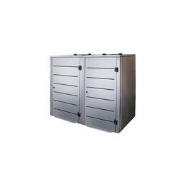 Mülltonnenbox Eleganza Line für zwei 120 Liter Mülltonnen