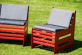 Mehrpreis Auflage in Grau für Stühle