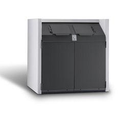 Mülltonnenbox Beton, Modell Si-Line Big für einen 1100 Liter Müllcontainer