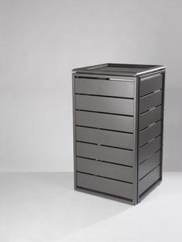 Mülltonnenbox Ecoplus für eine 120 Liter Mülltonne in Standard-Grau (mit Rückwand)