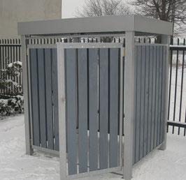 Mülltonnenbox, Mülltonnencontainer-Verkleidung, Modell Vertico  für einen 1100 Liter Müllcontainer
