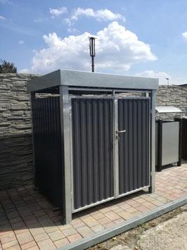 Mülltonnenbox, Mülltonnencontainer-Verkleidung, Modell Vertico1  für einen 1100 Liter Müllcontainer