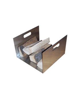 Holzkorb aus Edelstahl, Modell Stila 5