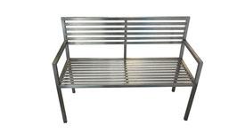Sitzbank aus Edelstahl, Modell Nacco E mit Armlehne